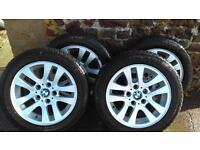 "BMW ALLOYS 16"" Continental perfect TYERS great condition"