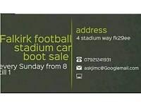 Falkirk football stadium car boot sale every sunday from 8 till 1