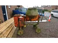 Belle cement mixer, diesel, electric, 2 barrow, self build