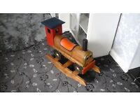 Wooden train rocker