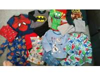 Bundle of boys pj's age 3-4