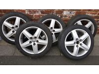CHEAP SET 17INCH ALLOYS MINT TYRES