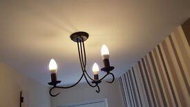 black metal chandelier