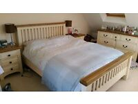 Solid Oak painted bedroom set from Victoriana, Southsea