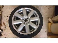 """MINI Crown Spoke 17"""" Alloy (Silver) & Falken Tyre (205/45ZR17 88W)"""