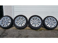 Vauxhall Genuine 16 alloy wheels + 4 x tyres 195 55 16