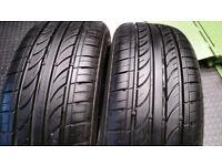 185 55 16 2 x tyres Aoteli P307