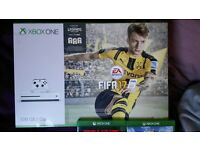 xbox one s ( new ) with fifa 17 plus games