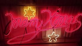 Merry Xmas outdoor rope light up sign