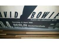 The rarest berlin concert advertising bowie poster in many ah year.
