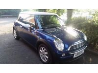 Mini hatchback .petrol manual long mot