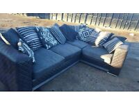 Sylish Black and grey LIKE NEW corner couch can deliver