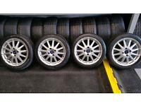 Ford Genunie 16 alloy wheels + 4 x tyres 195 45 16
