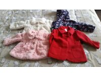 4x baby girl jackets Size 6-9mnths