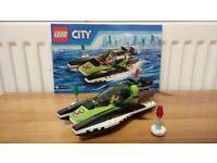 Lego city racing boat
