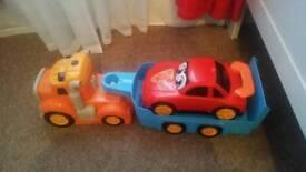 Truck & trailer & car