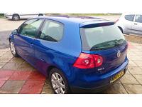 VW WOLKSWAGEN GOLF 2.0 GT TDI 3dr DIESEL 6 SPEED LASER BLUE