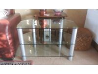 High quality three tier glass TV stand