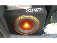 "12"" edge sub 900w and amp"