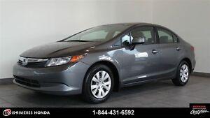 2012 Honda Civic LX garantie 7/160km