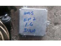 2005 HONDA CIVIC EP2 1.6 SPORT D16 V1 ECU ENGINE CONTROL UNIT IN GWO.chassis no.