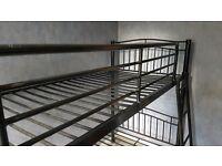 Black metal bunk beds £50