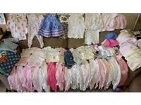 3-6 months joblot girls baby clothes 90 items