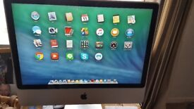 APPLE IMAC 24 INCH EARLY 2008 OSX VERSION 10 9 5 1TB HARD DRIVE APPLE W/LESS KEYBOARD APPLE MOUSE