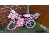 """14""""daisy chain Girls bike with Helmet"""