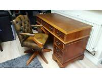 Chesterfield desk and chair