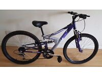 Apollo FS24 Teenagers Mountain Bike. 18 speed. (Suit: 10 yrs to 15 yrs).