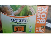 Moltex eco nappies size 3 x80