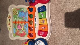 V tech musical piano baby toy