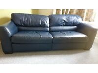Large Leather Sofa - Free