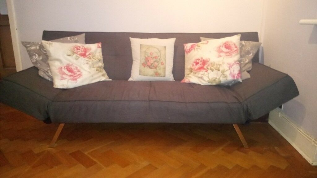Sofa bed. Grey. Converts easily from lovely sofa to double ...