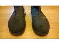Amazing Diesel Black Gold Suede Leather Boots biker rock UK7.5 EUR 42 BNWT