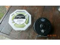 Fly fishing reel and line