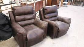 Brown Leather Suite of Furniture. Sofa & 2chairs
