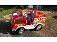 childs 12v electric fire engine