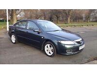Mazda 6 1798cc PETROL, HATCHBACK,,MANUAL,GREEN,, 2005(55)ALLOY WHEELS,FULL MOT