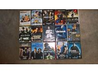 over 90 DVD's mostly action