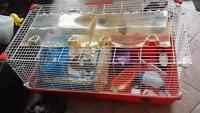 Rabbit bunny guinea pig large animal cage w accessories