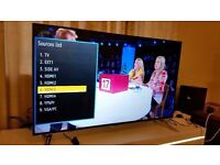 "PANASONIC 55"" Smart 4K ULTRA HD TV,built in Wifi,Freeview HD,NETFLIX,Great condition . boxed"