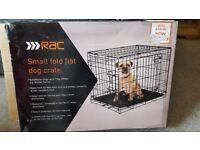 Small fold flat dog crate, like new!