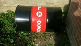 Empty steel oil drum 45 gallon (205 litres)