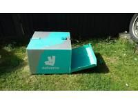 Pizza back box will fit any bike