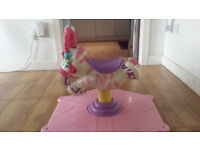 Fisher-Price Go Baby Go Pink Bounce & Spin Zebra Toy