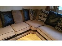 Lovely Large L Shape Sofa and Single Swivel Chair