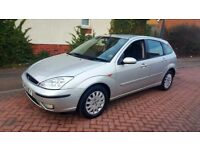 FORD FOCUS 1.8 GHIA TDCI ( DIESEL) 100 BHP VERY GOOD CONDITION TAX AND MOT LOW MILEAGE