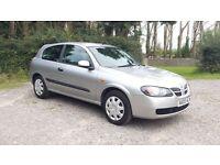 2005 NISSAN ALMERA 1.5 PETROL - LONG MOT, CHEAP CAR £650